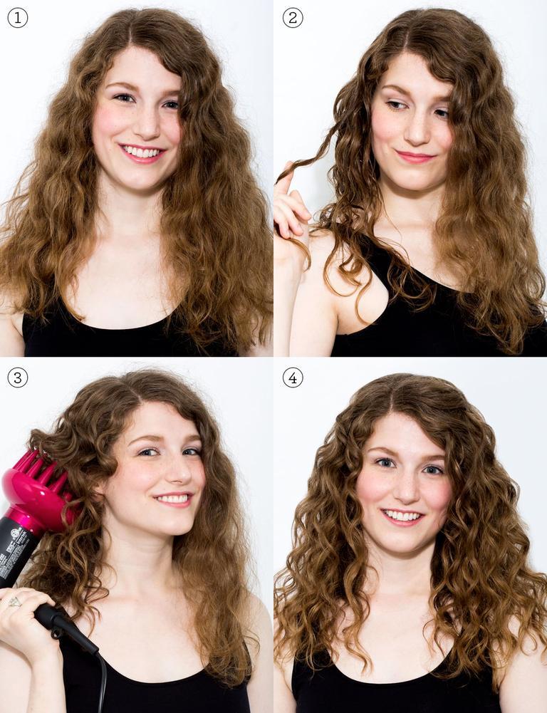 difusor de pelo cabello rizado